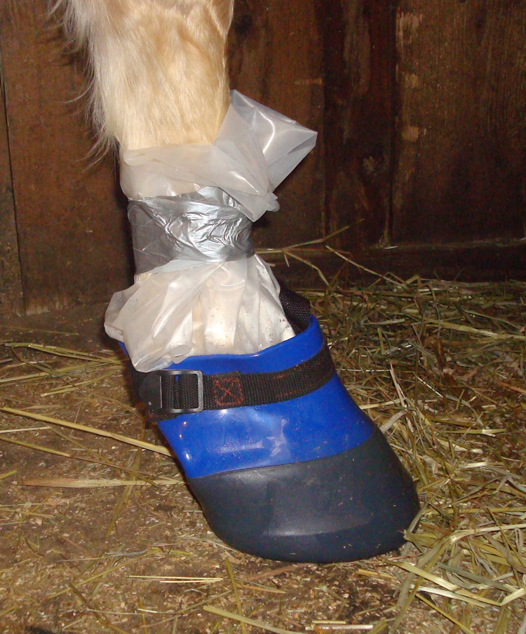 This is a Davis Boot over an IV bag wrap.  Davis Boots are Great!