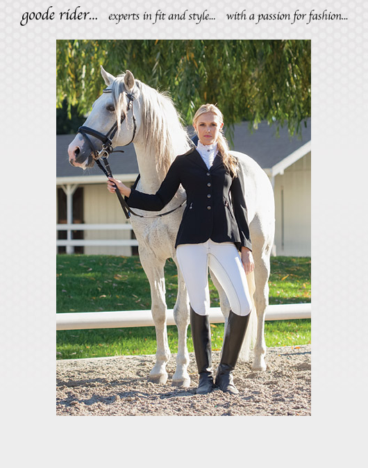 Not your expected Equestrian wear... GOODE RIDER.