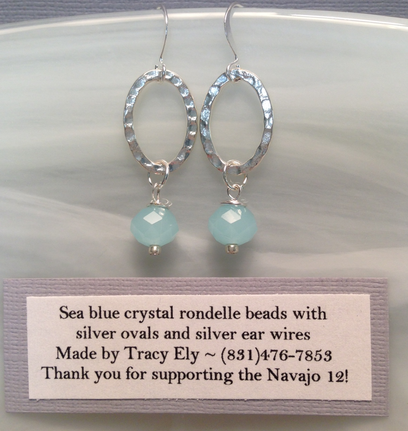 Click image to donate $25 and receive these earrings! (limited to first 10 donors)
