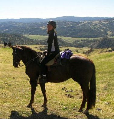 This is me during Cowboy Camp at the Varian Ranch a few years ago.  I rented a horse but brought my trusty Boz saddle. I felt confident on a foreign horse.  She felt free with such a light saddle!