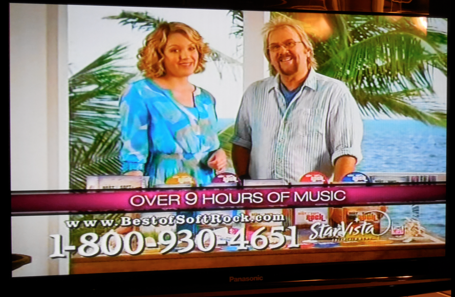Yup.  As I was snipping my hay, I was glued to this infomercial!  The guy on the right is from the band Ambrosia.