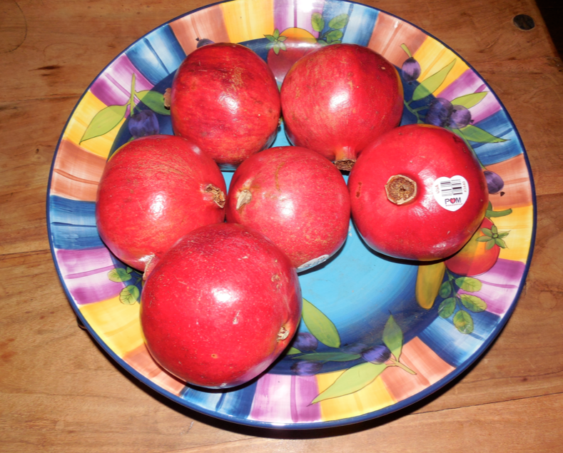 I bought my favorite fruit - pomegranates - so messy but I love them!