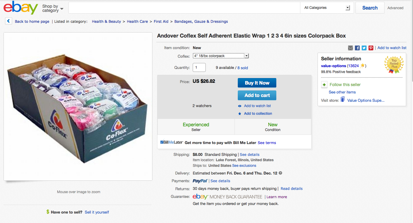 This is what I just purchased from them on Ebay.  Click to go to the page.