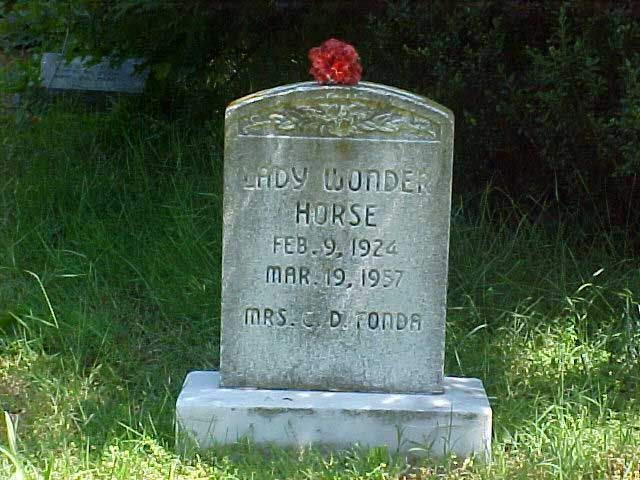 Lady wonder is buried at the Pet Cemetery in Richmond, Virginia