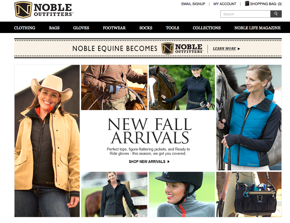 So I checked out the website:  nobleoutfitters.com.  Wow!  It was like Athleta meets Goode Rider!  Sport clothes that fit women with excellent design - both Western and English.