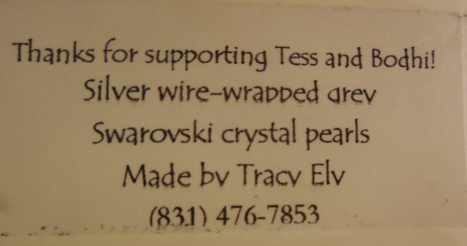 Click image to purchase these earrings to help pay for Bodhi and Tess' medical expenses! $20