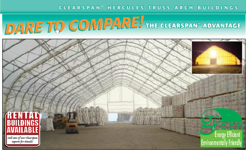 Sure, this building is huge and way too big for a simple barn, but they have lots of sizes, you don't need a concrete floor and look how much light it lets inside!  They say it can go up in a day!