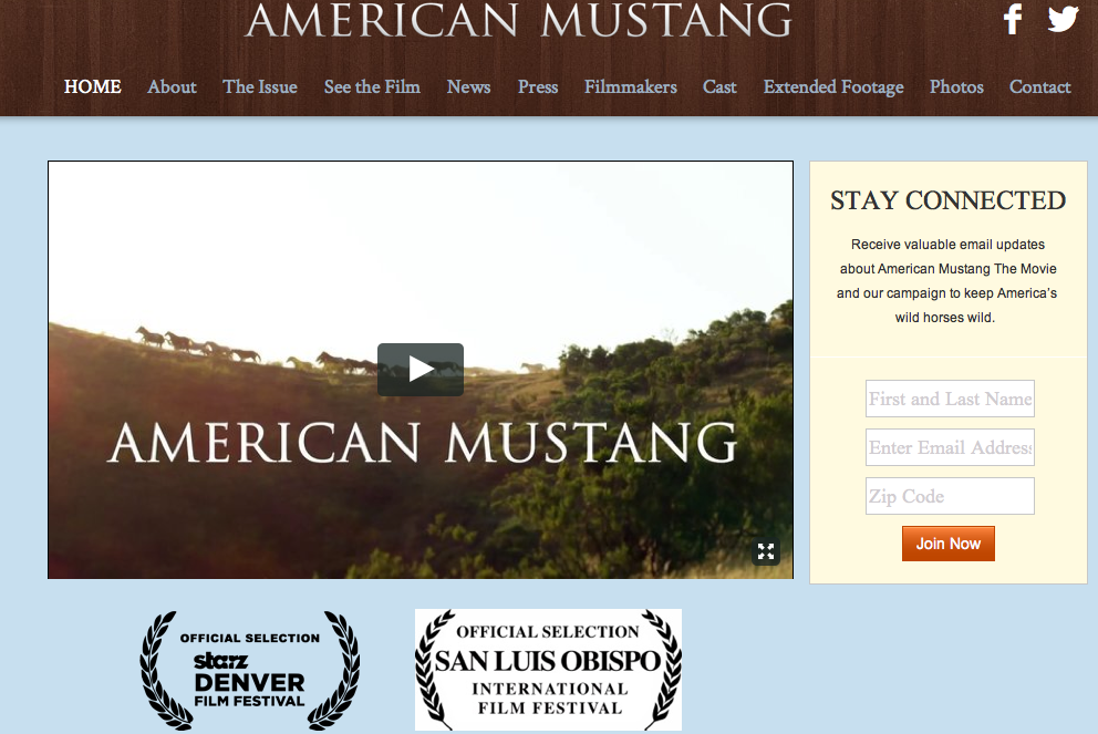 Click image to read more about the movie, American Mustang!