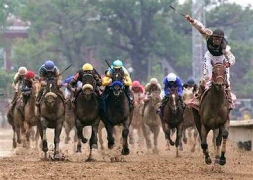 Famous win photo from the 2009 Derby.  Look how far ahead the 'nobody horse' finished!