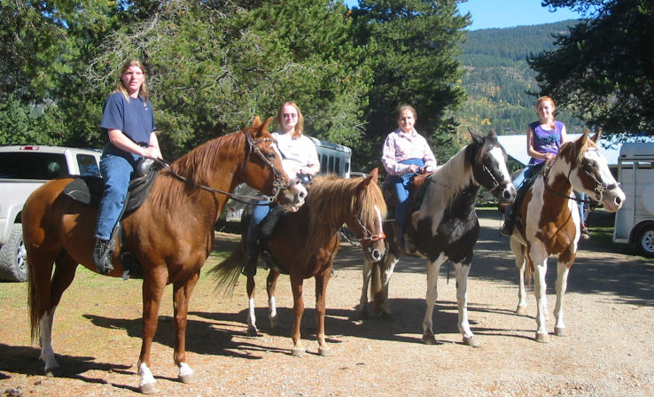 Summer taking a group out riding...