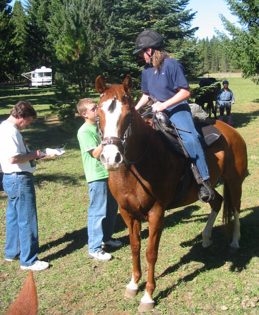 She loved working her horses - they went out all the time.