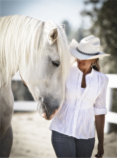 This is Leslie with one of her horses... (photo by Lesley Deutsch)