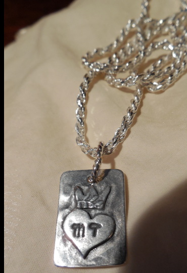 """MT's Sterling pendant on 18"""" Sterling Silver chain!"""