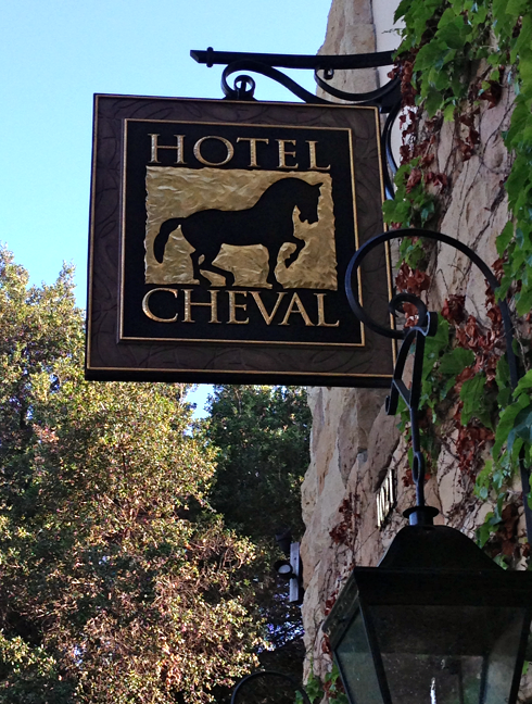 I parked right in front of this boutique hotel in Paso Robles.