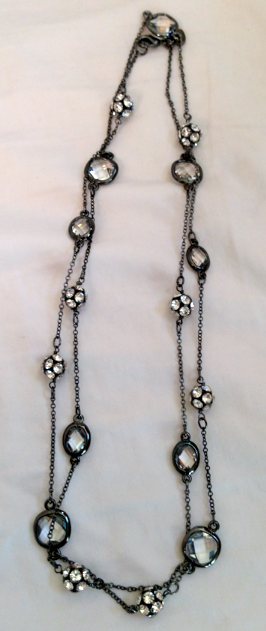 """Stella and Dot layering crystal and sterling necklace!  38"""""""