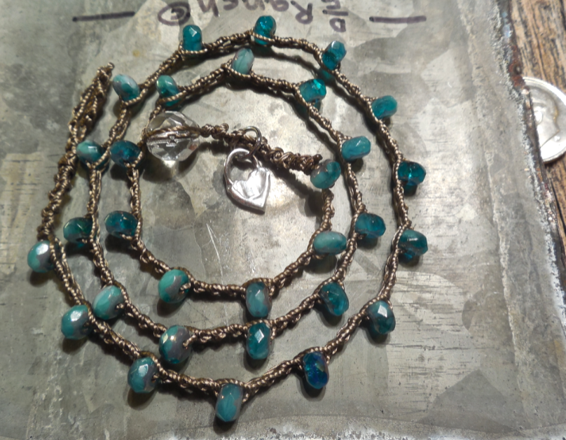 Beautiful deep, sky blue colors on this necklace/bracelet! Only $28 (for the BF horses)!  Click here to learn more!
