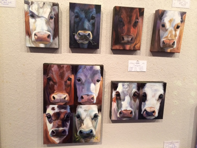 These are the Glenn Lyles small cow faces that are available today!  The Fredericksburg Gallery sent over this photo today!
