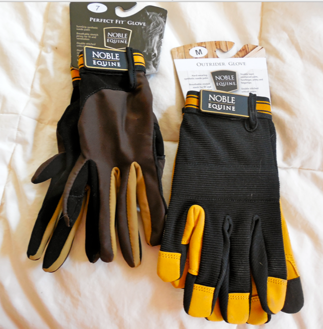 """These are the gloves that arrived from Noble Outfitters.  I brought the lighter pair, the """"Perfect Fit"""" glove to the Ranch with me."""