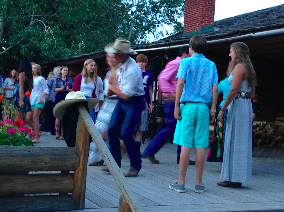 As the sun went down, we were still Square Dancing!  The entire deck was full of twinkletoed guests!