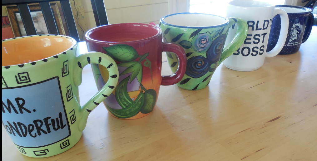 Our other favorite mugs, in order of preference, that we use in our daily morning, comforting, ritual.