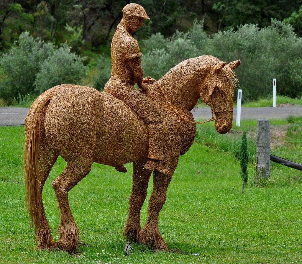 Straw+horse+and+rider