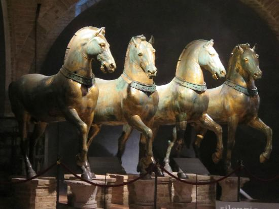 The original sculptures were brought inside and restored...