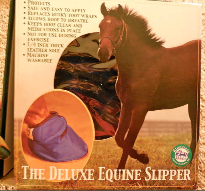 My new Equine Slipper arrived today!  But, now I know how to salvage some of my old Slippers for when I need a quick fix!