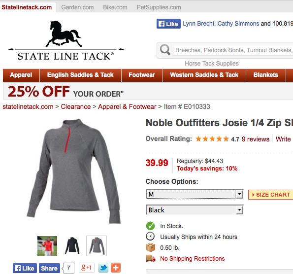 Click image to go to the sale page for the Josie Quarter Mock.