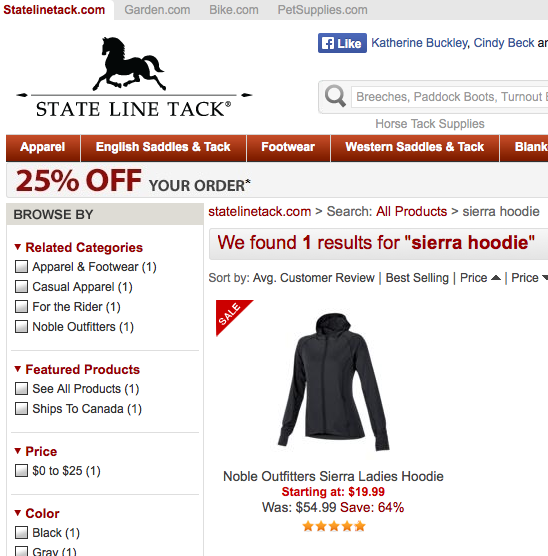Click to go to the Noble Equine Hoodie on sale!!!