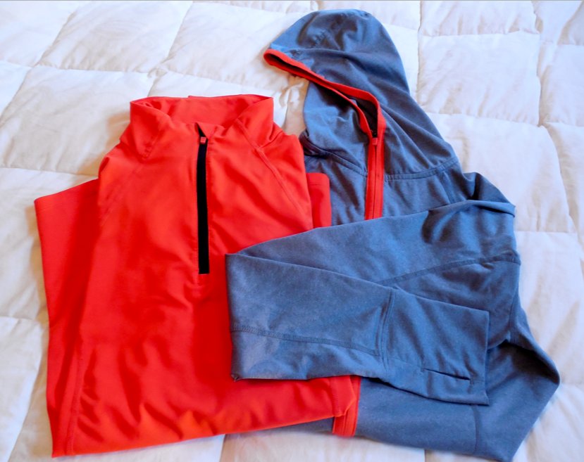 I have washed these many times and they still look great!  I love the hood on the Hoodie.  It actually works!  And it fits under a helmet comfortably - not like a medical collar.