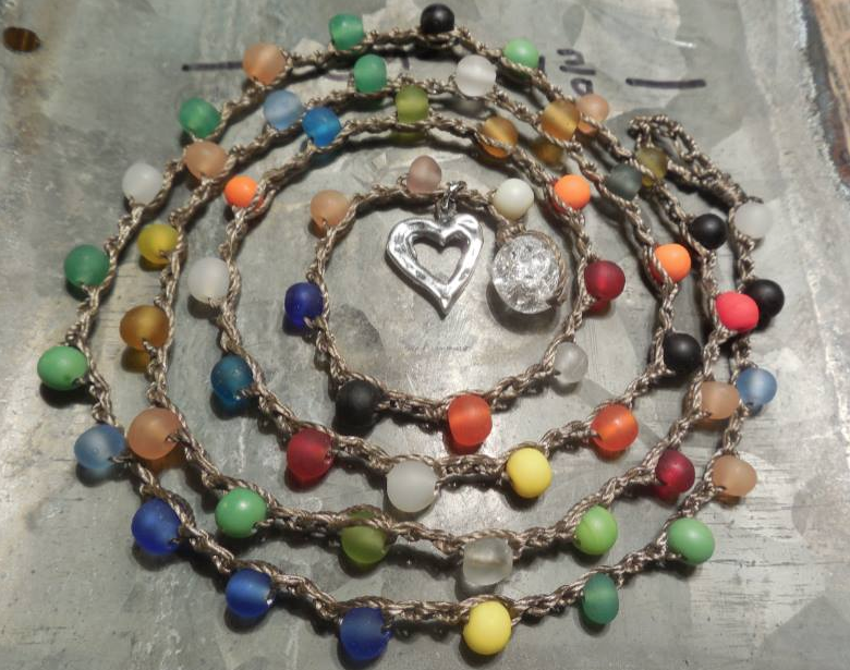 Party colors necklace/bracelet!  For the horses, only $28!!  CLICK image for more information.