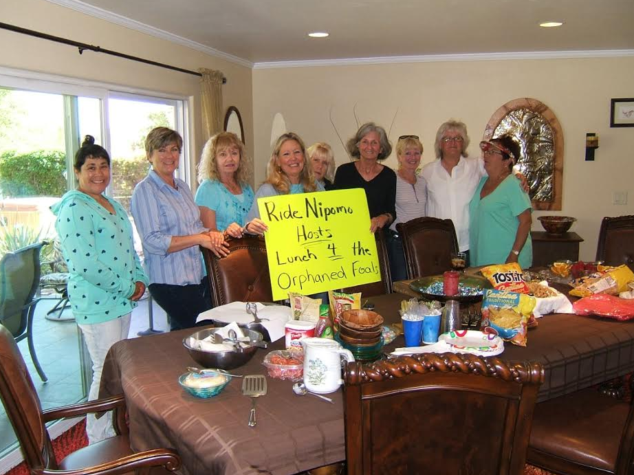 What great inspiration!  One reader asked her riding group to donate to last months Bucket Fund (for the orphaned foals) in exchange for her hosting a lunch!  Wonderful!  The foals win and these ladies had a grand old time!