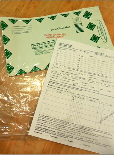 Here is the Dairy One Kit.  Simple.  Form, mailer and baggie.  Easy.  You can even use your own baggie and envelope and supply info, if you are in a hurry.