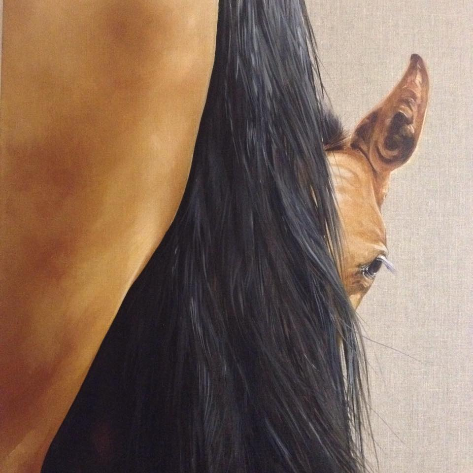 Tony O'Connor, equine artist.