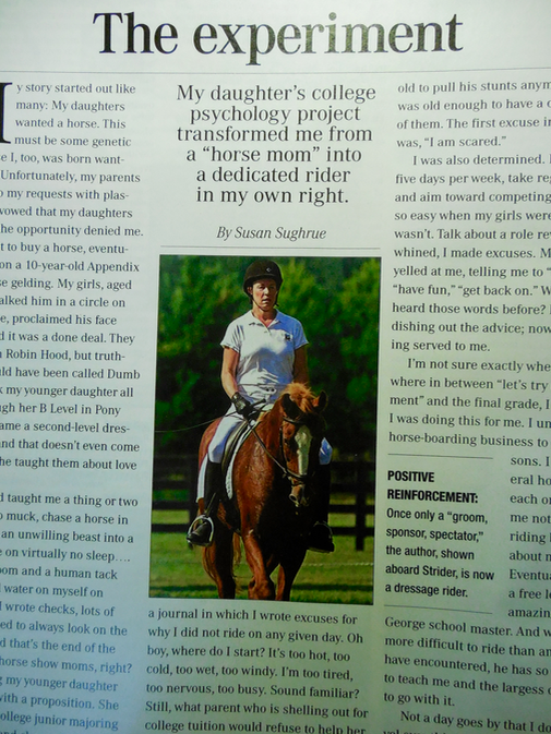 Thank you, Susan Sughrue, for writing this article in Equus.