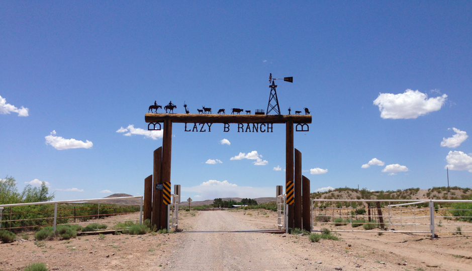 The entrance to the Lazy B Headquarters