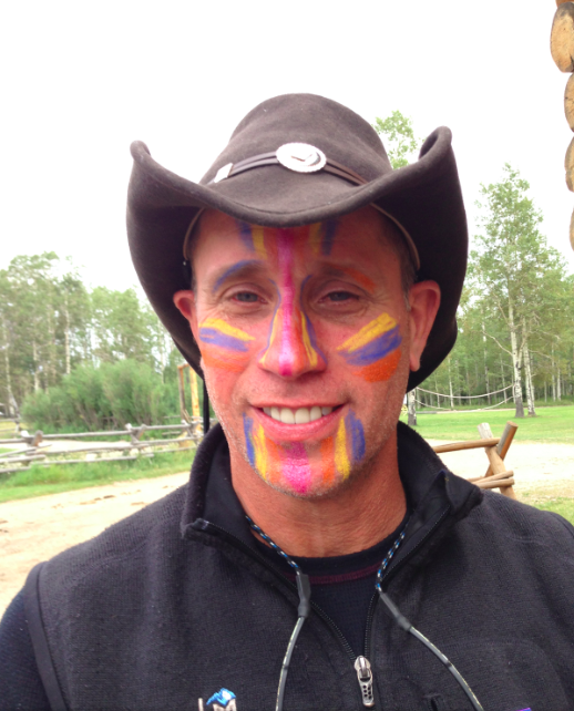 This is Paul - the leader of the face painting squad.  He is an elementary school principal so he was good with the painting.