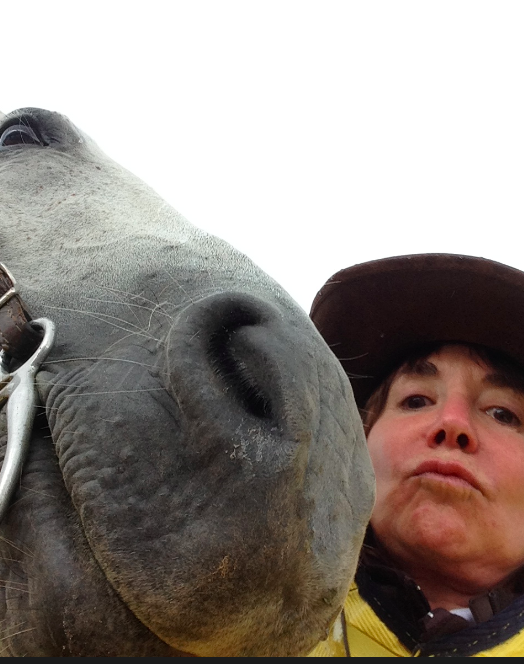 Dovey and Dawn, wet and cold selfie!