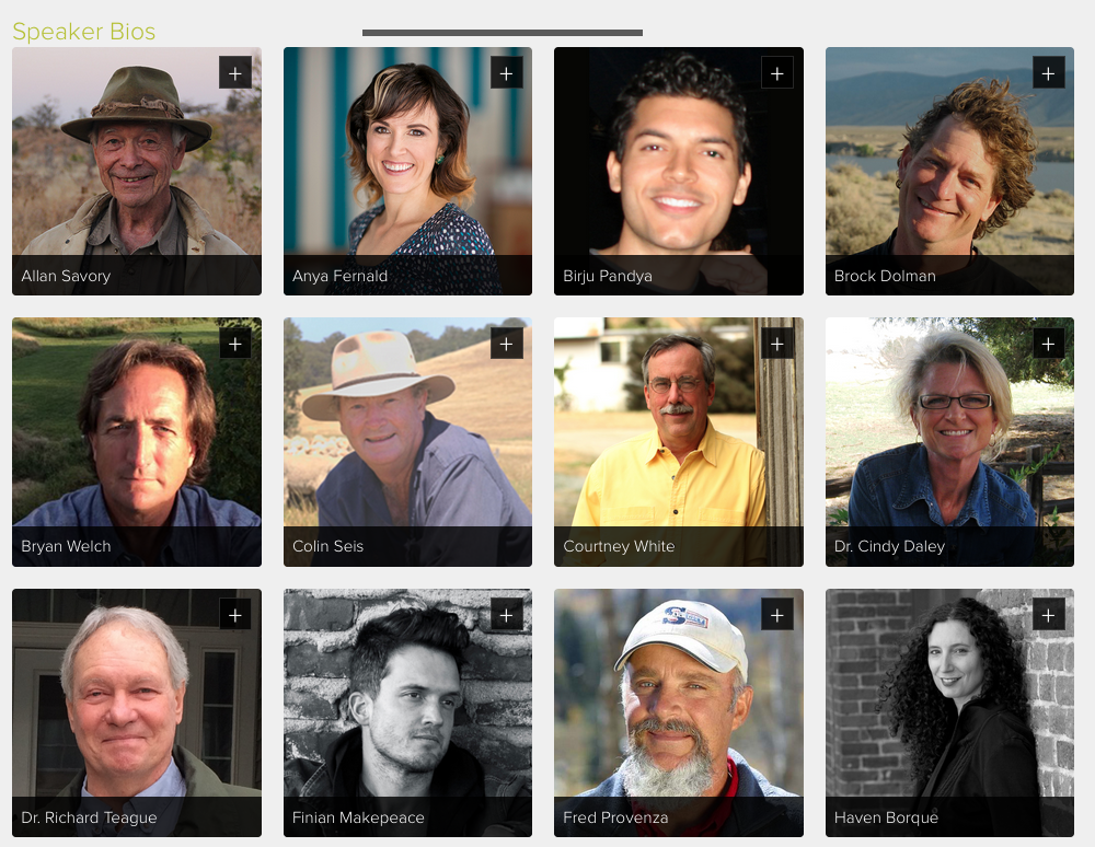 Click here (and scroll down) to read the BIOS of each of the speakers.