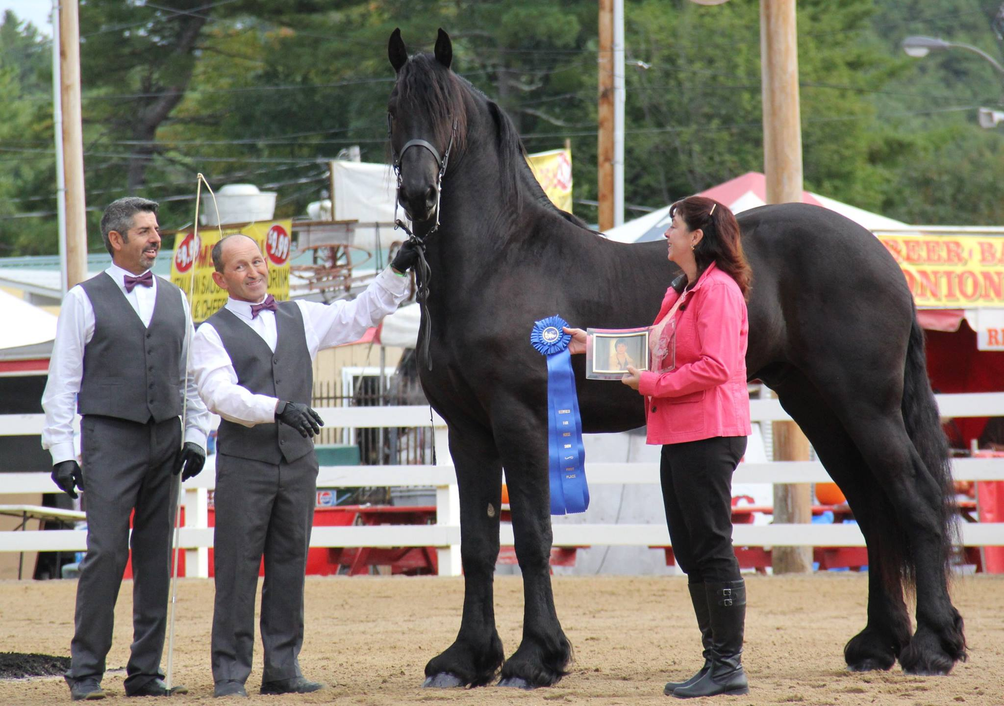 Oebele brings home a blue to Historic Runnymede Farm for his first show in the USA