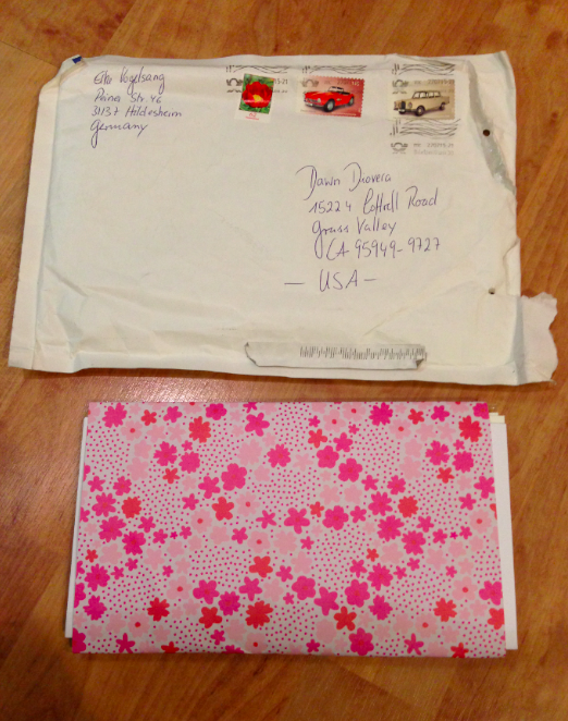 This is my package of cards that arrived, addressed to me by the artist. Packaged with love.