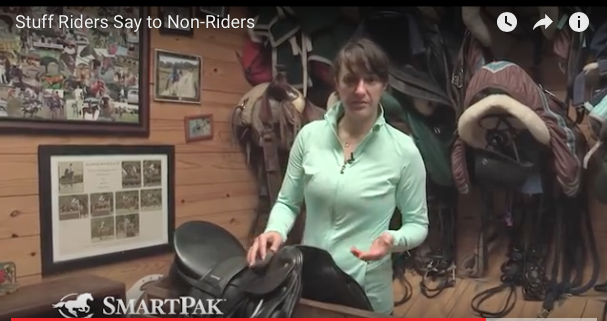 "YOU NEED to watch this video, ""What riders say to Non-riders"" from SmartPak! So brilliant! Click image!"