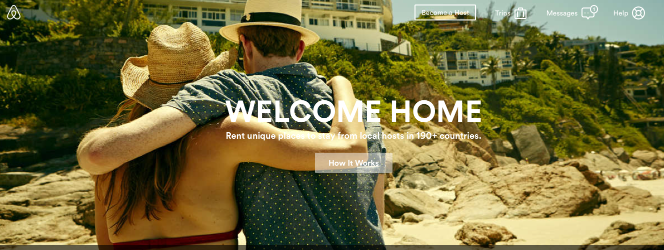 This is the website for AirBnB. Click to go.