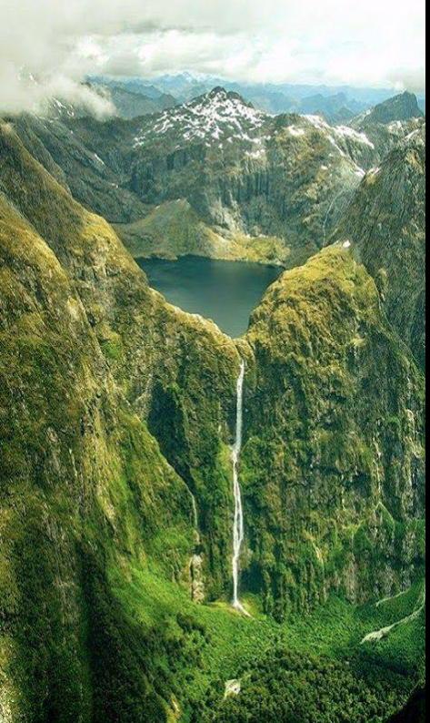 Sutherland Falls and Lake Quill, Nueva Zelanda
