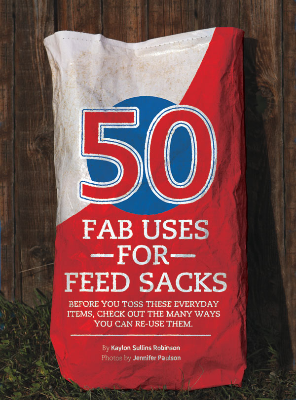 50 Ways To Reuse Your Feed Sacks Horse And Man