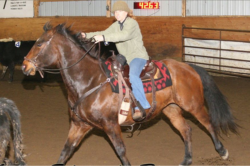 But it isn't ONLY for dressage. I ride all of my horses in LG Bridles and I only trail ride. This is a photo of a reader and her horse, the very first time used her LG bridle! She said her horse calmed down, quit playing with his bit and runs so much better without a bit!