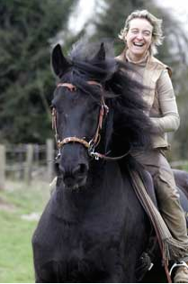 Monika invented the LG. She is a top dressage rider in Germany.
