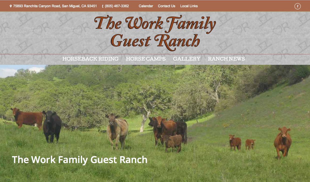 The Work Ranch is a managed grazing natural cattle ranch (you know I love this method...) and they have a well trained ranch horses available to see this lovely setting.