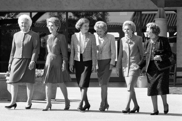 Barbara Bush, Nancy Reagan, Rosalynn Carter, Betty Ford, Pat Nixon, and Lady Bird Johnson