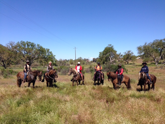 "This was our smaller group that rode together.  I""m in red.  Isn't Laz a handsome boy?!"